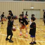 QB選手と練習
